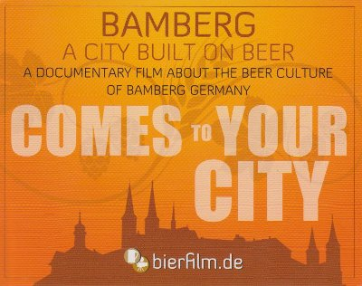 Bamberg - A City Built on Beer comes to your City